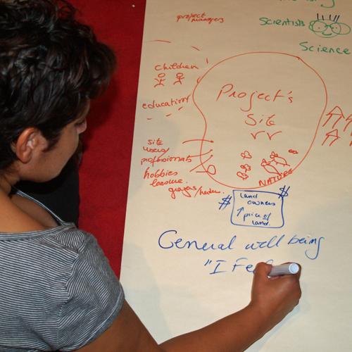 Community participation in restoration workshop