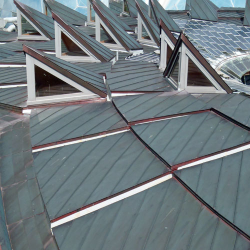Metal supply chains in construction Eden copper roof