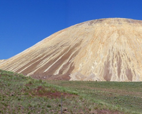 Mine waste rock dump, Bingham Canyon, Utah